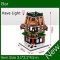 2017 Novo Mini Bloco de Construção do Street View BAR Têm Luz Compatível Com Brinquedos Da Cidade SD6512 Legoes Frete grátis