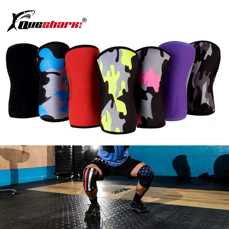 57db77b30d 7mm Neoprene Weightlifting Sport Knee Pads Compression Powerlifting Squat Gym  Training Knee Support Protector Basketball Kneepad