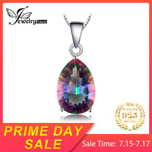 JewelryPalace 4ct ของแท้ Multicolor Rainbow ไฟ Mystic Topaz จี้ Pear (China)