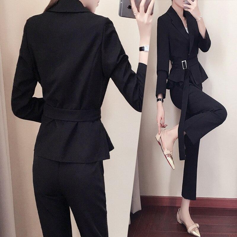 1 Pantalon Costume Deux Automne culture Occasionnel Professionnel De Veste 2 pièce Nouveau 2019 Femmes Et Mince Neuf Printemps Auto fqgBTwYx