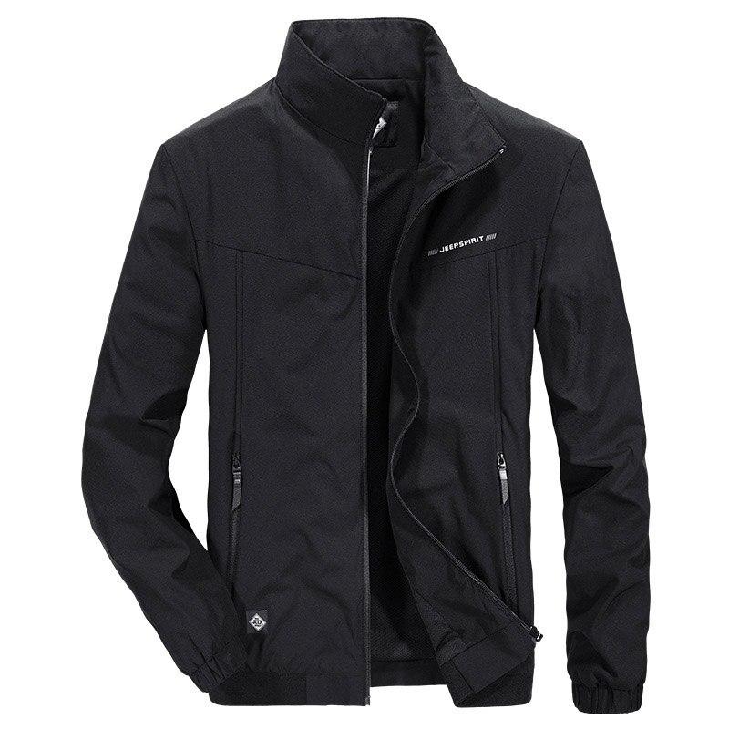 YUSHU nouveau printemps séchage rapide hommes Bomber veste à glissière mâle décontracté Slim Fit pilote manteau hommes vêtements