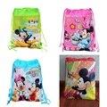 12 unids/lote 2014 toda la venta, Minnie mouse Del Lazo de la Escuela, mochilas para niños bolsas impermeables para niños niñas