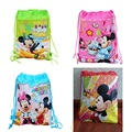 12pcs/lot 2014 whole sale, Minnie mouse Drawstring School Bag,children's backpacks waterproof bags for boys girls