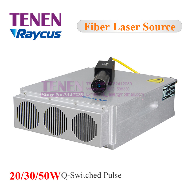 Raycus 20W 30W 50W Q switched Pulse 1064nm Fiber Laser Source For YAG Laser Marking Welding