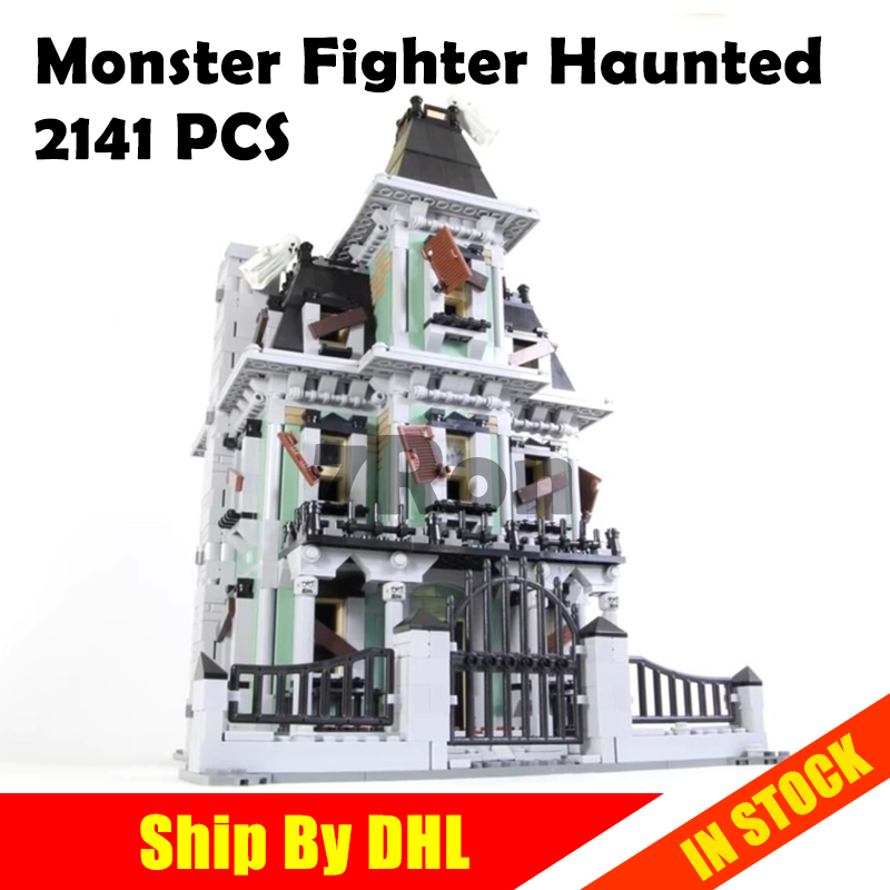 2141Pcs City Monster Fighter Haunted House Model Building Kits Figure Blocks Bricks Toys hobbies Compatible with lego 10228 2015 high quality spaceship building blocks compatible with lego star war ship fighter scale model bricks toys christmas gift