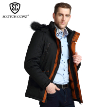 SCOTCH CCWZ Brand RU/EU size Design Thick Warm Winter Jacket Men Parkas Overcoat Outerwear Jackets And Coats 2017 Clothing 7711