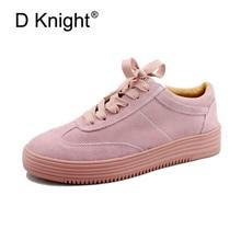Casual Flat παπούτσια νέων γυναικών μόδας στρογγυλά toe δαντέλες μέχρι γυναικεία πάνινα παπούτσια άνετα κυρίες γνήσια δερμάτινα αθλητικά πλατφόρμα αγελάδας