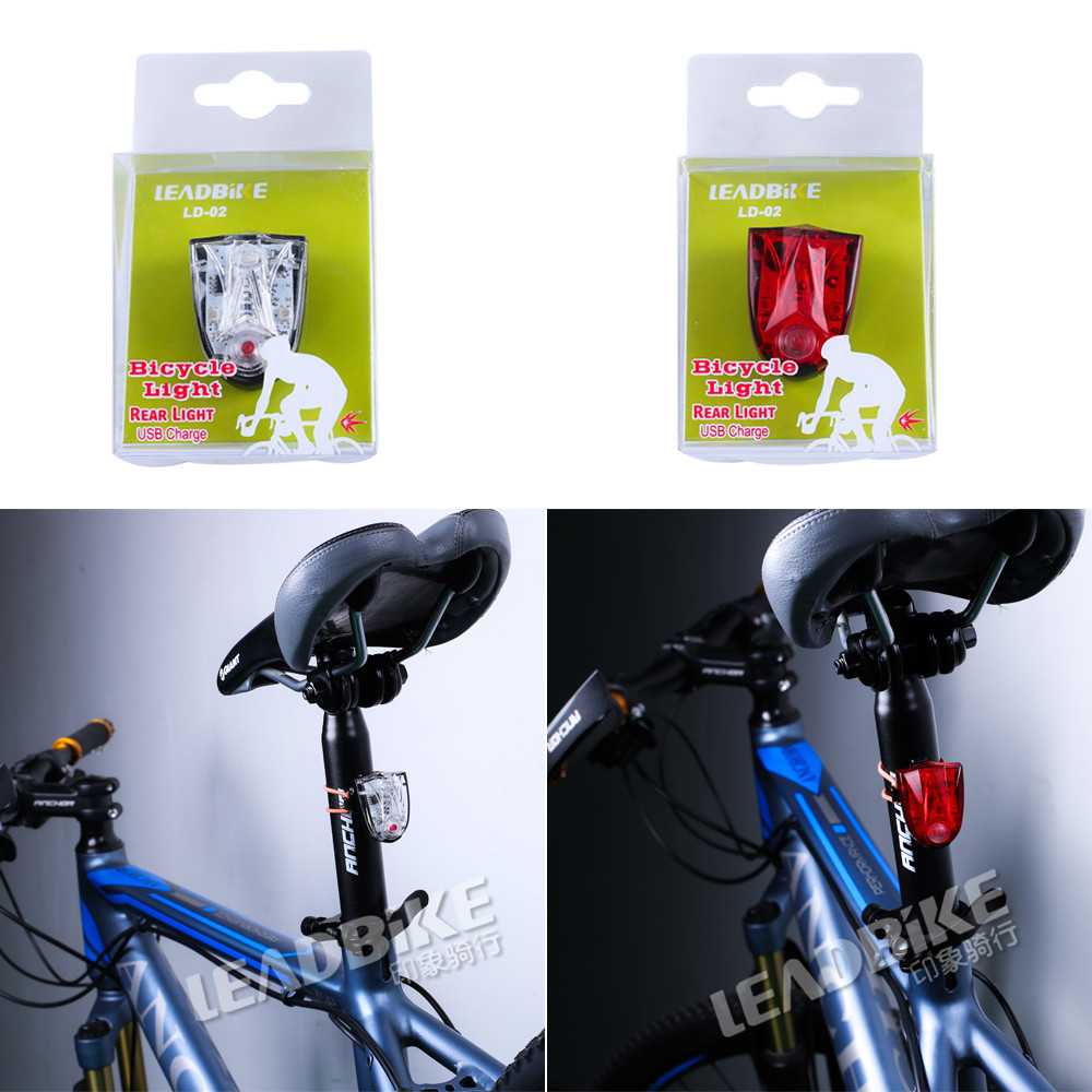 Leadbike Usb Rechargeable Led Bicycle Tail Light Multifunctional Abs Flashing Waterproof Safety Warning Bike Helmet In From Sports