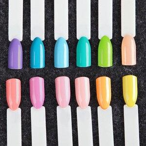 Image 2 - (12 יח\חבילה) רוזלינד ג ל לק לציפורניים 7 ml טהור צבעים UV נייל אמנות חצי קבוע נייל הפולני לכה מניקור סט