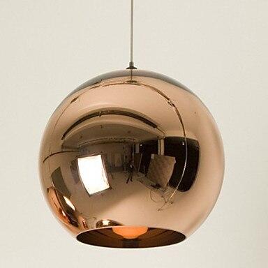 Mini suspension Globe, 1 lumière, galvanoplastie minimaliste en verre métallique pour décoration de Bar suspension E26/E27, ampoule incluse