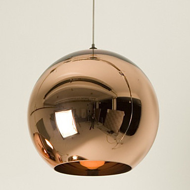 Mini Globe Pendant, 1 Light, Minimalist Metal Glass Electroplating For Bar Decoration pendant light E26/E27,Bulb Included mini globe stars and constellations