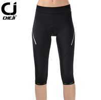 CHEJI Comfortable Women Bicycle Cycling Gel 3D Padded Bike Short Pants Tights