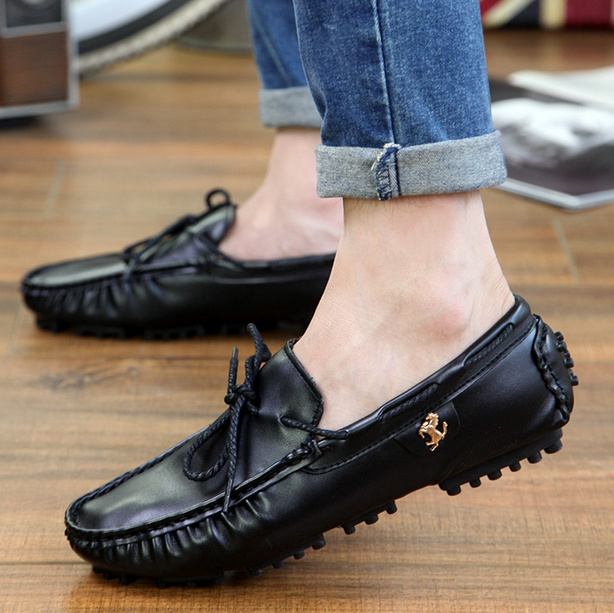 New Fahsion Sapatos Autumn Flat Shoes Oxfords,New Casual Men Leather Shoes,shoe Moccasins Loafers Zapatos Hombre dxkzmcm new men flats cow genuine leather slip on casual shoes men loafers moccasins sapatos men oxfords
