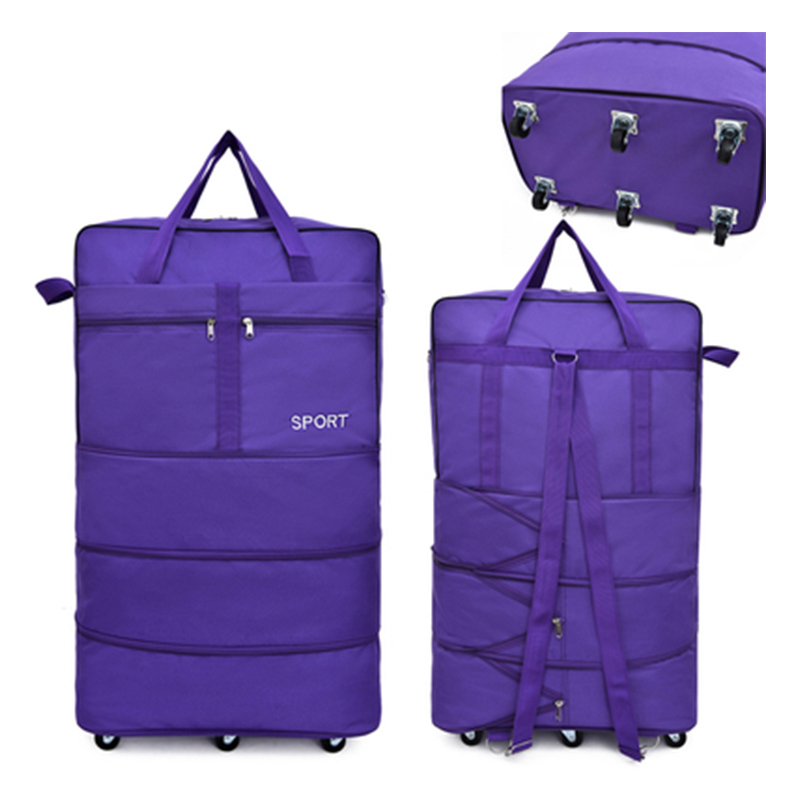 Large capacity bag carry on waterproof rolling luggage travel bag trolley luggage portable luggage folding suitcase with wheels