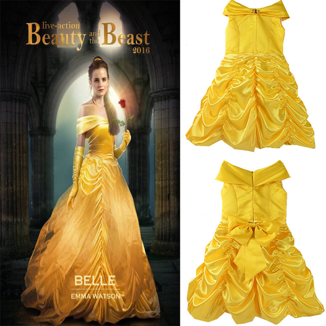 49903b4a0 Princess Belle Halloween Cosplay Costume Beauty And The Beast ...