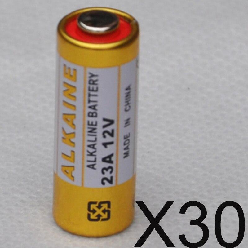 30 шт. <font><b>23a</b></font> 12 В сухой щелочные батареи 23AE 21/23 A23 23GA mn21 для дверной звонок, сигнализация, walkman, автомобиль пульт дистанционного управления и т. д.