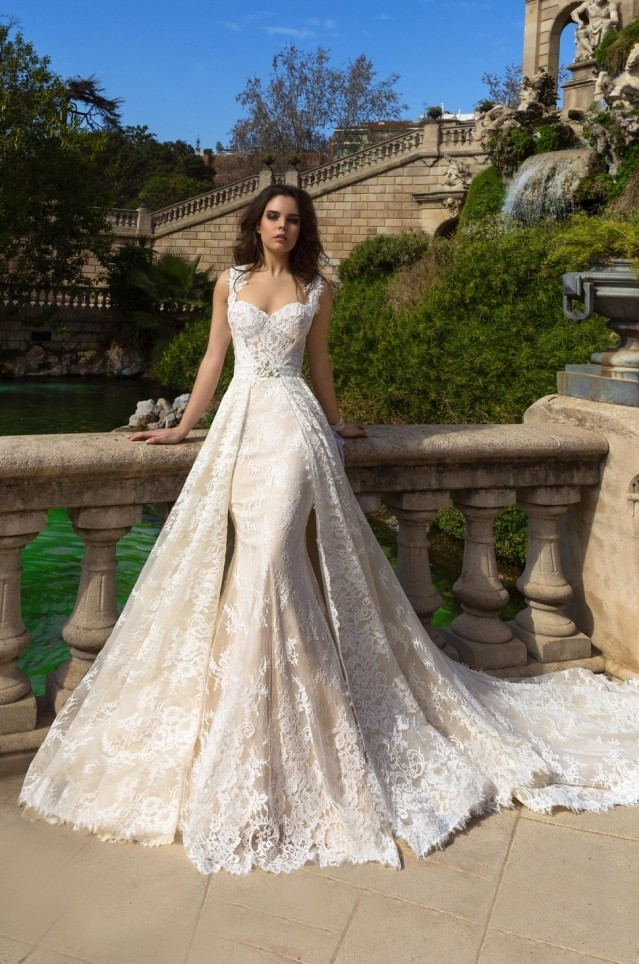 Elegant Detachable Wedding Dresses 2017 New Sweetheart Liques Lace Slim Guest Gown Women Marry In From Weddings Events On
