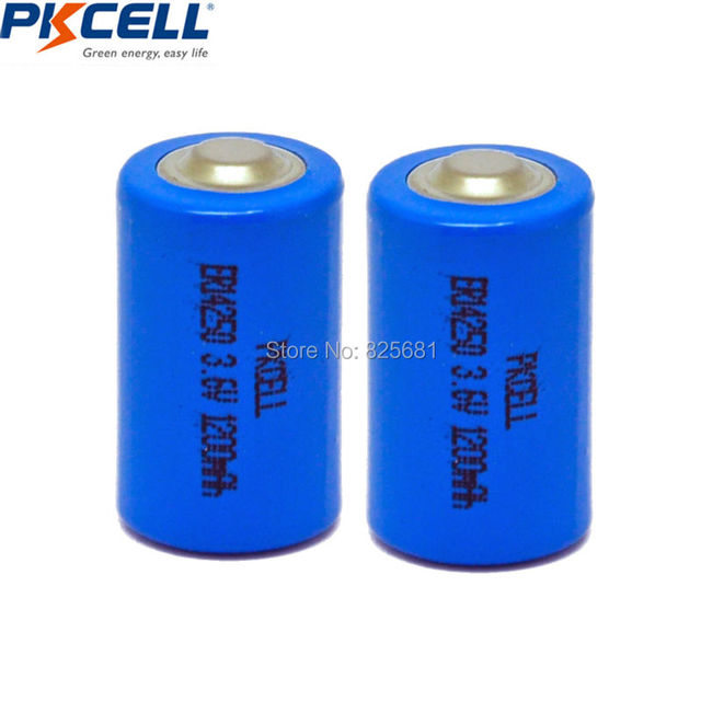 10Pcs PKCELL 1/2AA Battery 3.6V ER14250 LiSOCl2 Batteries 14250 1200mAh For GPS Lithium Battery Replace Saft LS14250 1