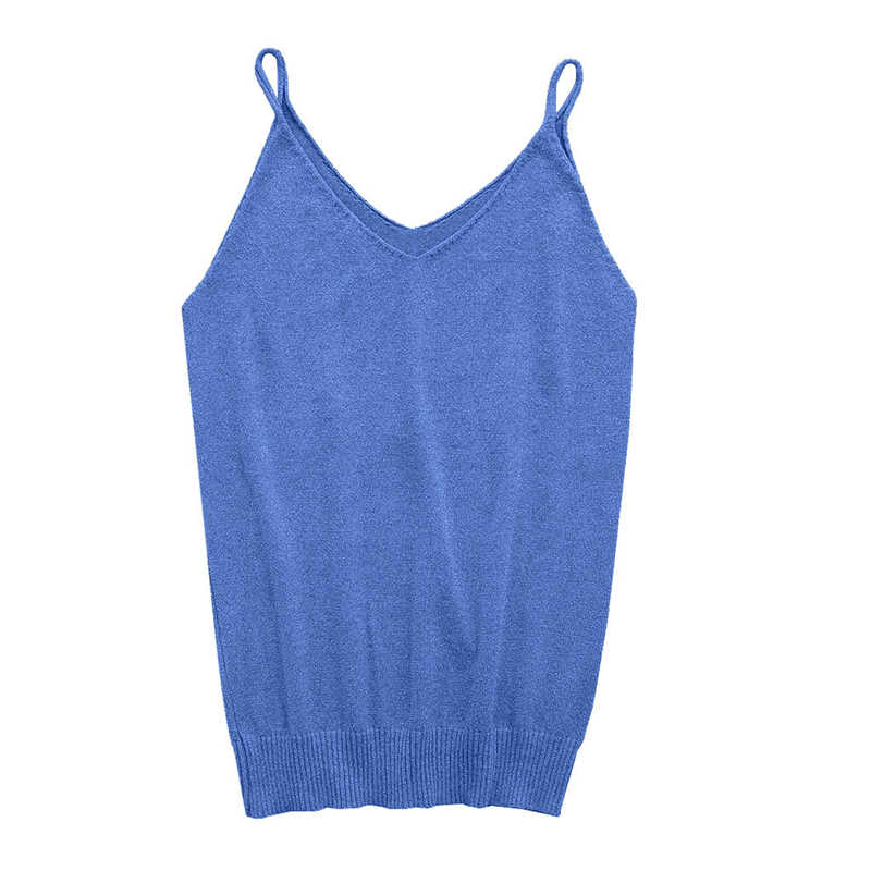 7dd8e359b062f Sexy Glittering Knitted Tank Tops Women Camisole Vest Gold Thread Top Vest  Sequined Stretchable Slim Tops