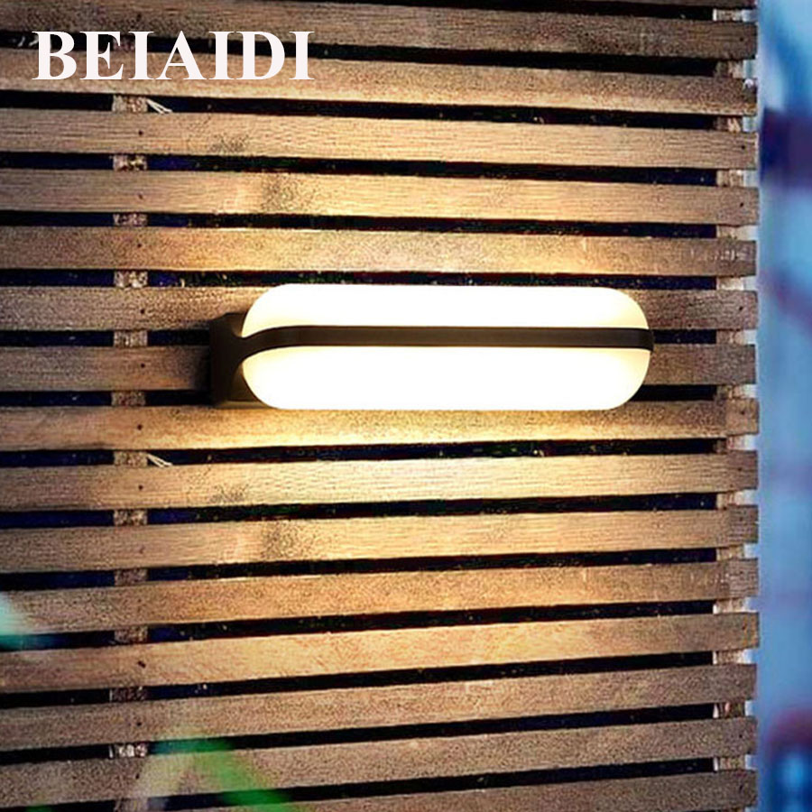 BEIAIDI Modern Minimalist LED Porch Wall Lamp Waterproof Exterior Building Villa Hotel Sconce Outdoor Corridor Garden Wall LightBEIAIDI Modern Minimalist LED Porch Wall Lamp Waterproof Exterior Building Villa Hotel Sconce Outdoor Corridor Garden Wall Light