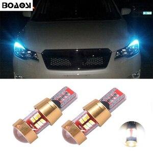 BOAOSI 2x T10 LED W5W Samsung 3014SMD Car LED Auto Lamp Light Bulbs For Subaru impreza legacy xv forester Outback Tribeca Fiat(China)