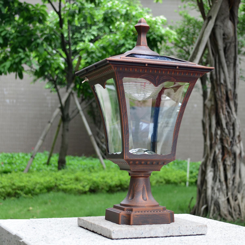 Waterproof Aluminium Die casting pillar lamp Europe door column light square outdoor fence lights Bronze Black