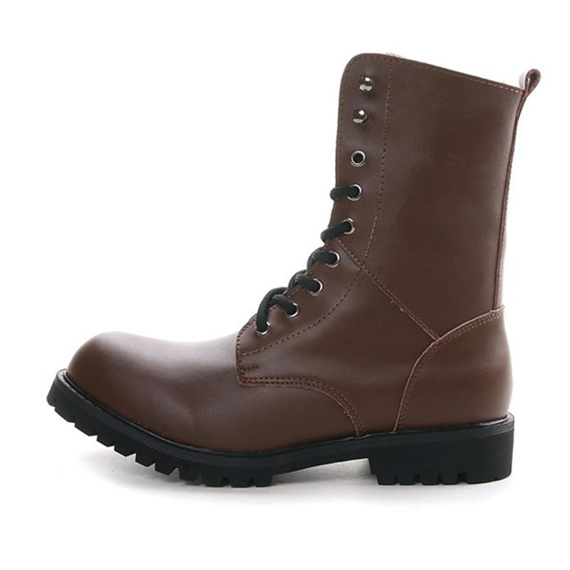 Brown Dos 48 2601m Botas Tamanho M Couro Grande Equitação 2601 Lace Inverno Pretas Homens 38 Black 2601m Outono up Sapatos Mid calf De 5aq1aBw