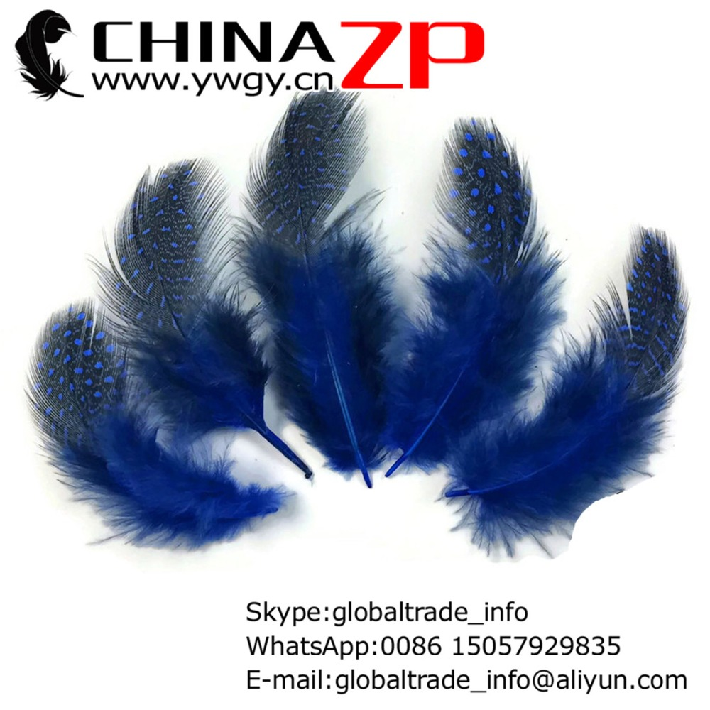 Dyed Royal Blue Guinea Hen Pheasant Feather Pad     US Seller
