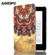 Trend Print Flip PU Leather-based Case Protecting Cowl for Amazon Kindle Voyage 6inch 6″ Pill eBook eReader Funda