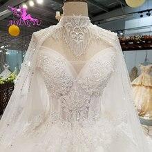 AIJINGYU خمر فرشاة سوتشو ثوب خمر الدعاوى للعروس بسيطة مع الأكمام فساتين الزفاف طويلة الأكمام الهندي