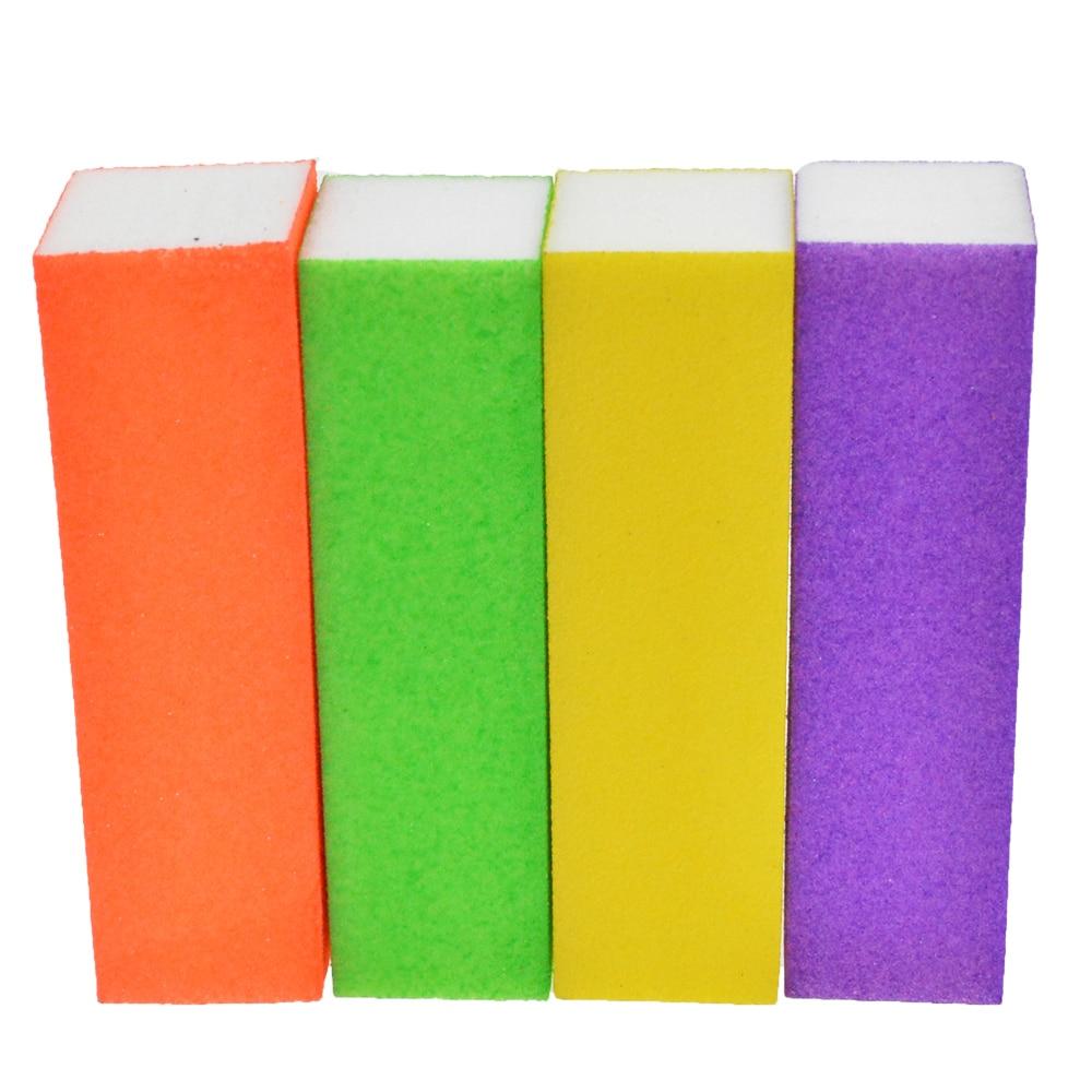 4 unids/lote Lima pulido colorido lija esponja naranja/amarillo ...