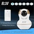 Alarm Wireless Security Camera HD Wifi +2 PIR Infrared Motion Sensor Alarm System Video Surveillance Camera IP Mini BW12G