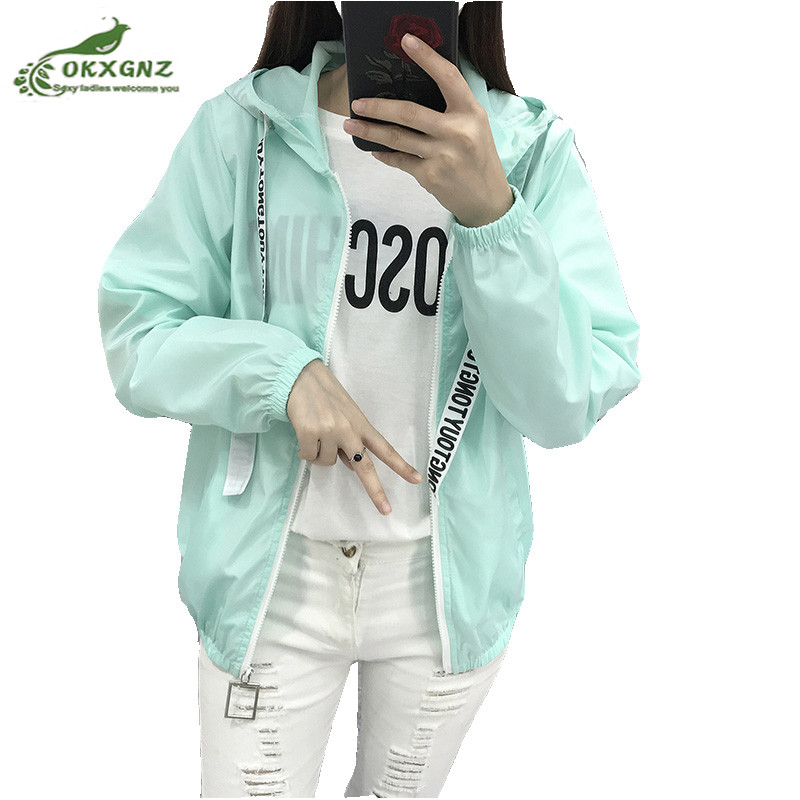 2018 Spring Quick Dry Female Jackets Women Coats Windbreaker Sun Protection Ultra Light Thin Summer Jacket coat Women Clothing