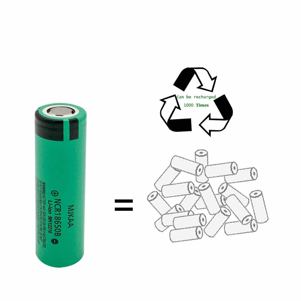 MJKAA 6 ピース/ロットオリジナル NCR 18650 B 充電式バッテリー 3.7V 3400mAh NCR18650B リチウムイオン充電式電池バッテリー