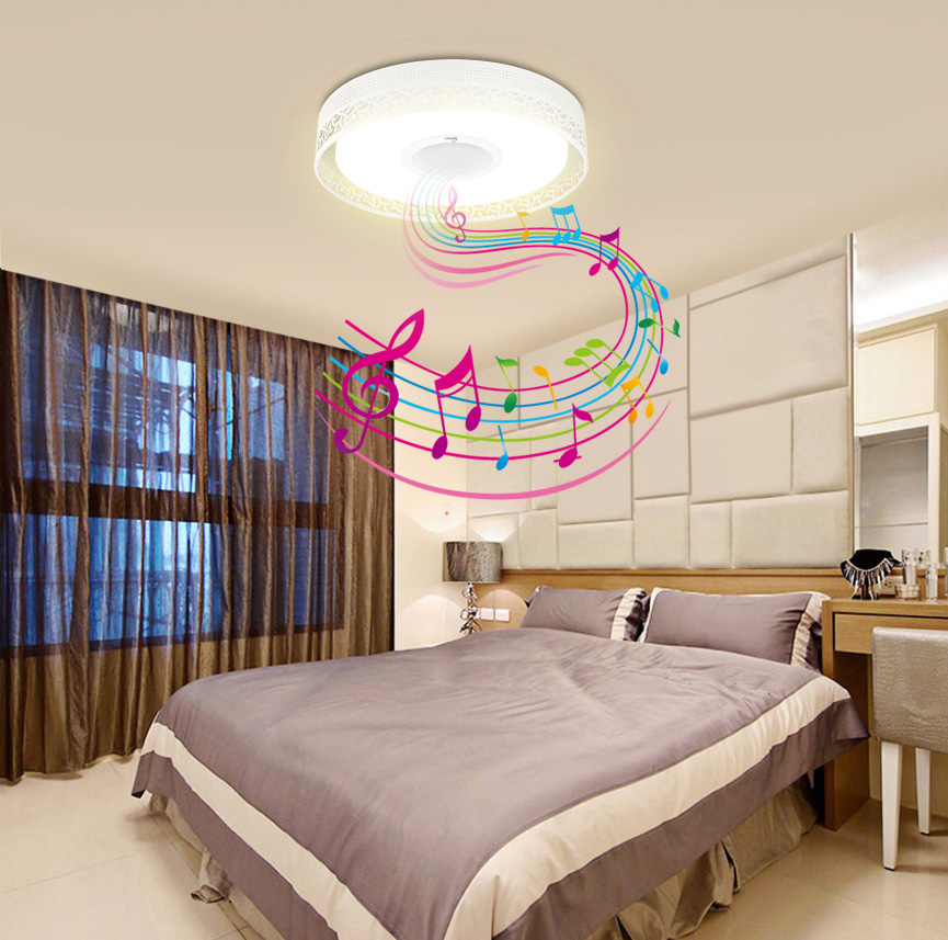 Bluetooth Music Ceiling Light Colorful Led Light Music Mount Ceiling Light Bluetooth 4.0 Control Recessed Fixture Lamp Smart Led