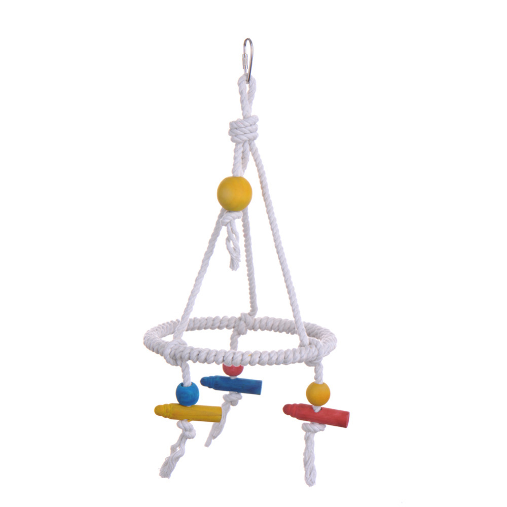 pet parrot toy bird swing cotton rope bird toys suitable for all kinds of small parrot newest. Black Bedroom Furniture Sets. Home Design Ideas
