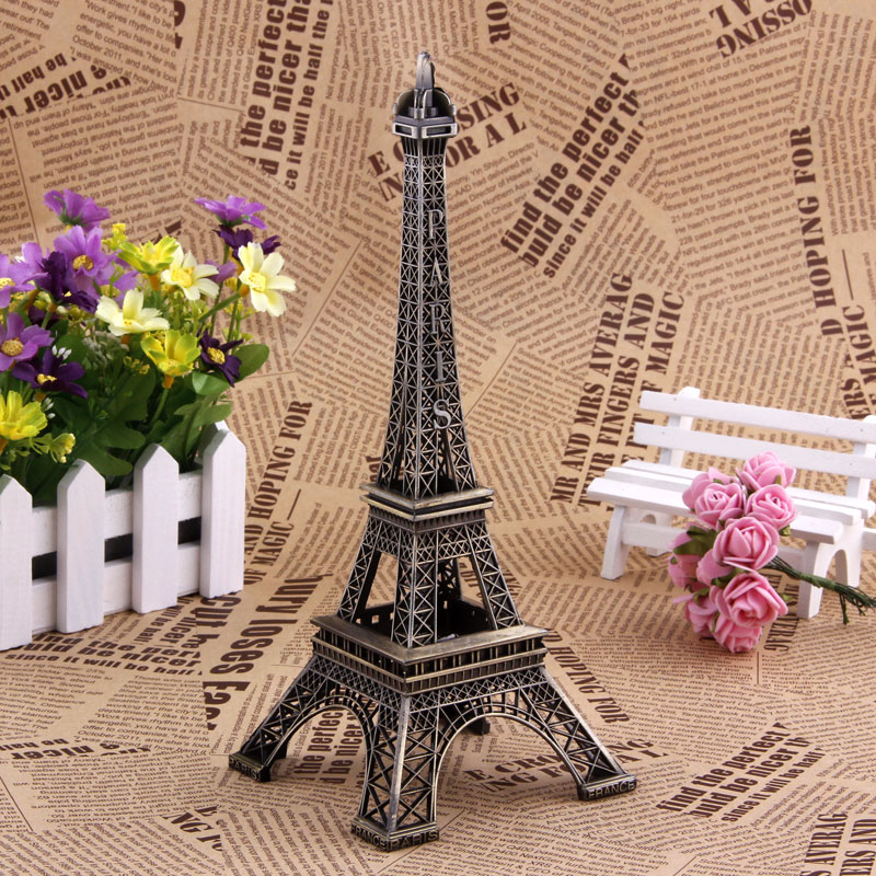 10cm Vintage Home Decor Metal Crafts Paris Eiffel Tower Model Figurine Zinc Alloy Statue Travel Souvenirs