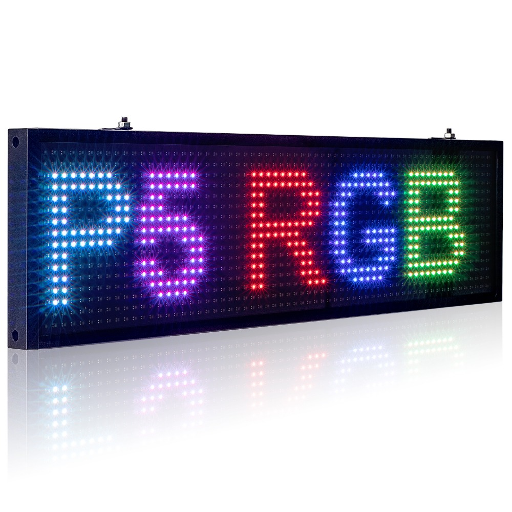 34cm P5MM RGB Led Sign Full color multicolor Programmable Scrolling Message LED Display Board Display Multi