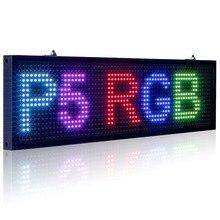 Цветной многоцветный программируемый многоязычный Светодиодный индикатор для прокрутки сообщений, 34 см, 5 мм