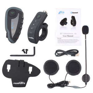 Image 5 - Fodsports V8 פרו אינטרקום BT האינטרפון moto rcycle קסדת Bluetooth אוזניות אינטרקום Intercomunicador moto עם FM NFC