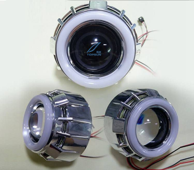 ФОТО GZTOPHID 80mm cotton light led angel eyes with cover/shroud dedicated for 2.5