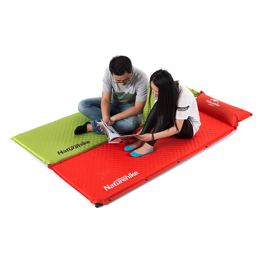 ФОТО Outdoor Automatic Inflatable Camping Tent Blanket Mattresses Sleeping Pad free shipping