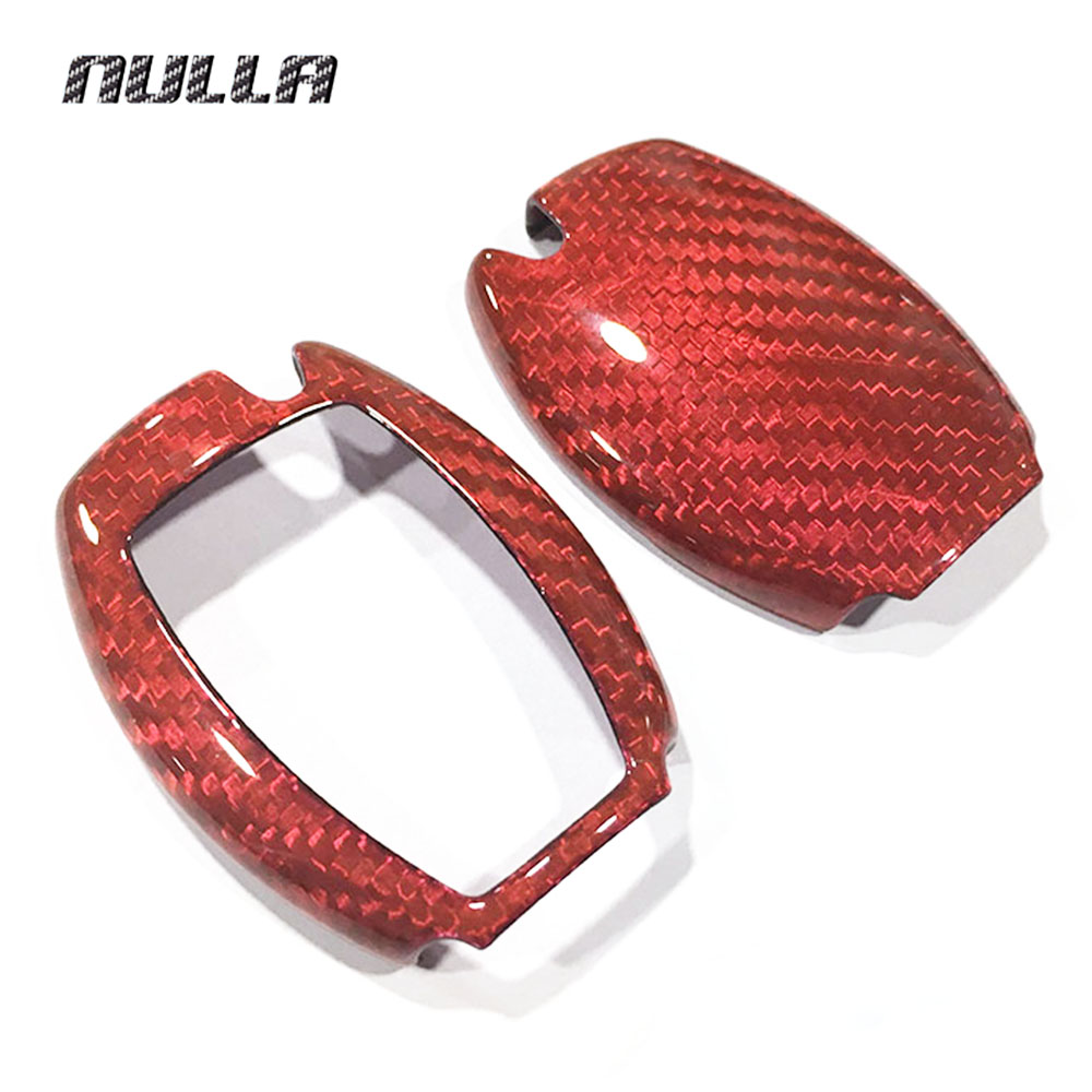 NULLA Genuine Carbon Fiber Car Auto Remote Key Shell Fob Holder Case Cover For Mercedes Benz w203 w211 Car Styling Car Sticker андроид