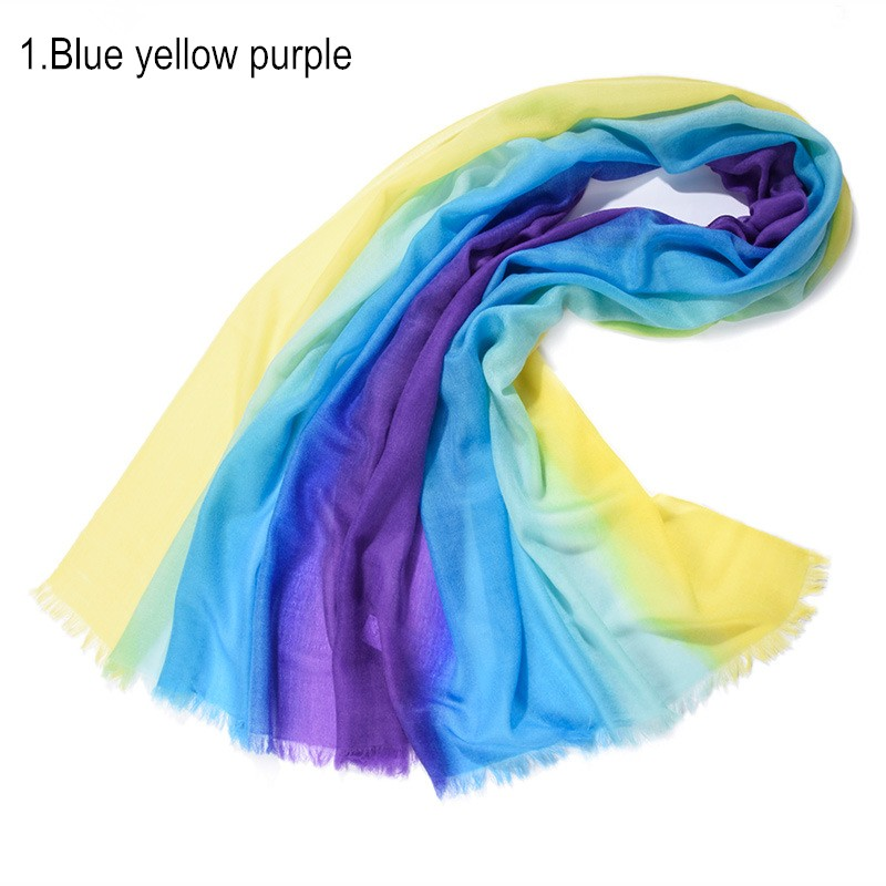 1. Blue yellow purple