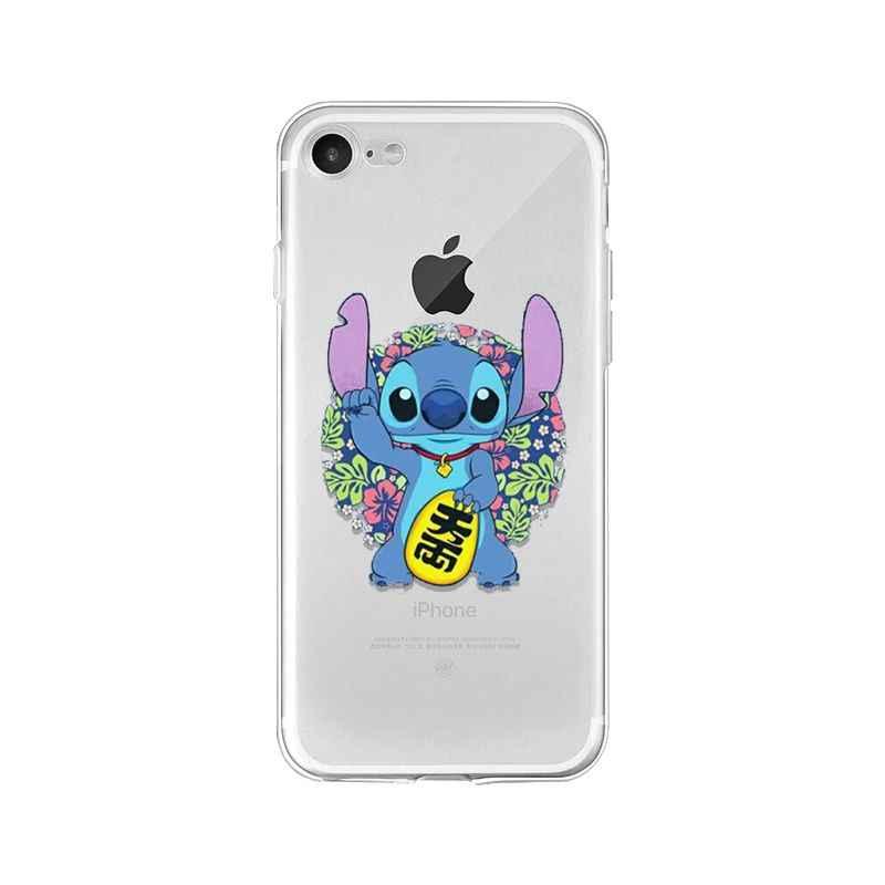 Yinuoda Hoạt Hình Dễ Thương Lilo Stitch Nhiều Màu Sắc Dễ Thương Ốp Lưng Điện Thoại Apple iPhone 8 7 6 6S 6S Plus X XS max 5 5S SE XR Điện Thoại Di Động
