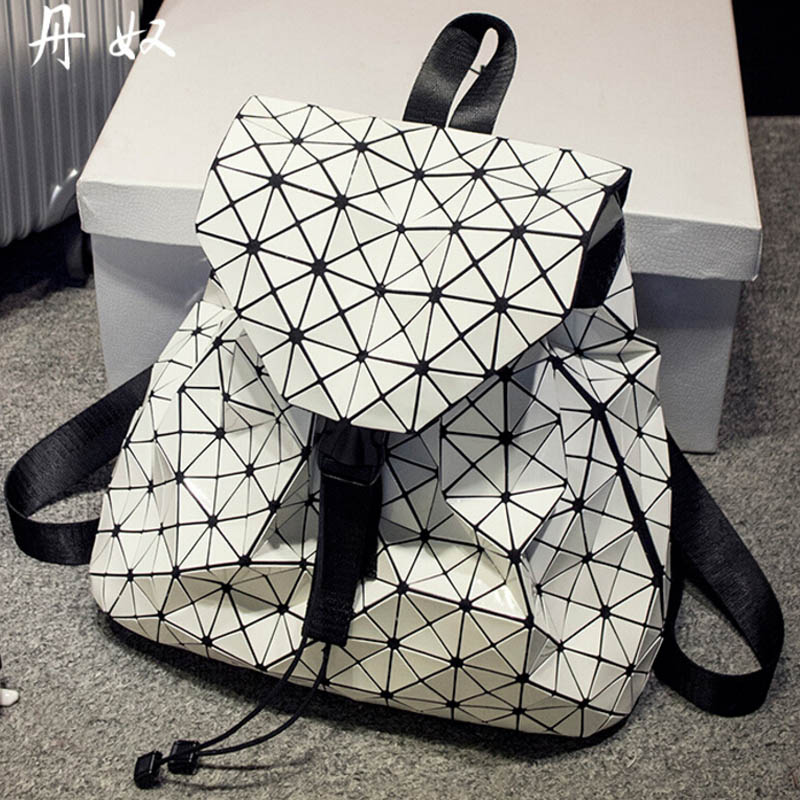 BaoBao backpack feminine geometric patchwork sequin plaid female school bag  for teenage girl bagpack drawstring bag mochila-in School Bags from Luggage  ... c3a210b0478a6