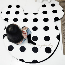 Black and White Mickey Minnie Mouse Rug Child Baby Crawling Game Mat Carpet Indoor Soft Four Season children Mat yoga mat