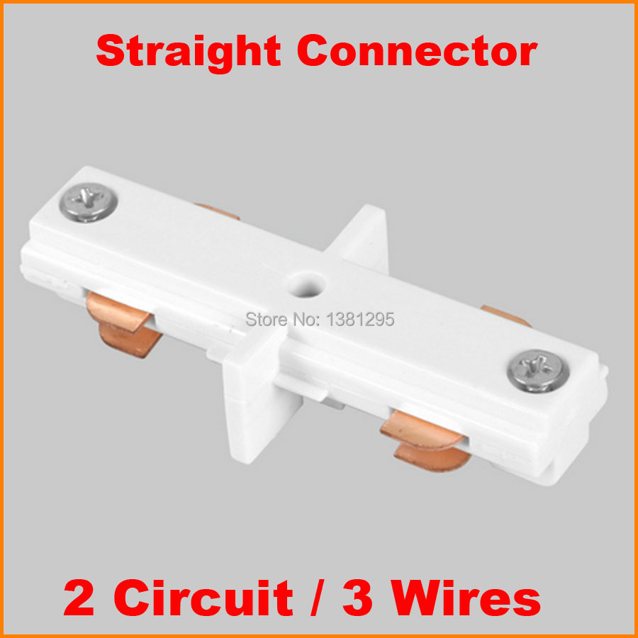 3 Wire 2 Circuit Inline LED Lighting Track Connector For Joining Rails  Track Components Middle Feed Aluminum Track Accessories
