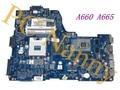 Não 3d! Para Toshiba Satellite A660 a665 NWQAA LA-6062P K000104390 a665-s6070 Laptop Intel placa-mãe hm55 testado
