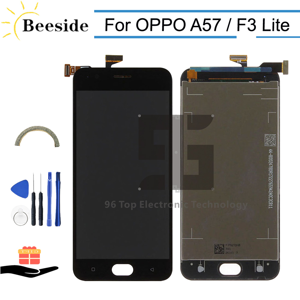 AA+ Quality LCD 5.2'' For <font><b>OPPO</b></font> <font><b>A57</b></font> A57M LCD <font><b>Display</b></font> Touch Screen Digitizer Assembly Replace For <font><b>OPPO</b></font> F3 Lite Black / White image